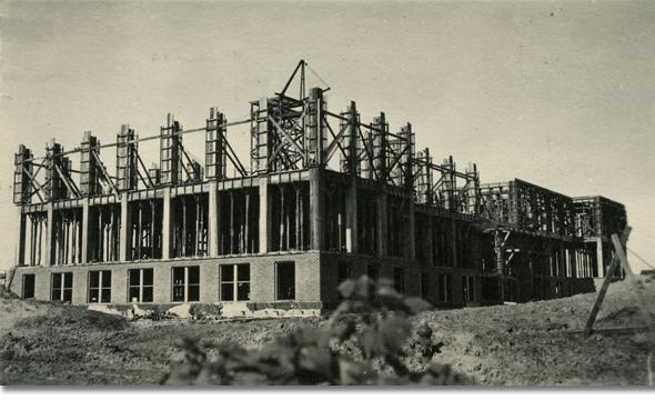 Third floor of Roberts Hall under construction