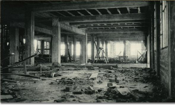 Interior of Roberts Hall basement