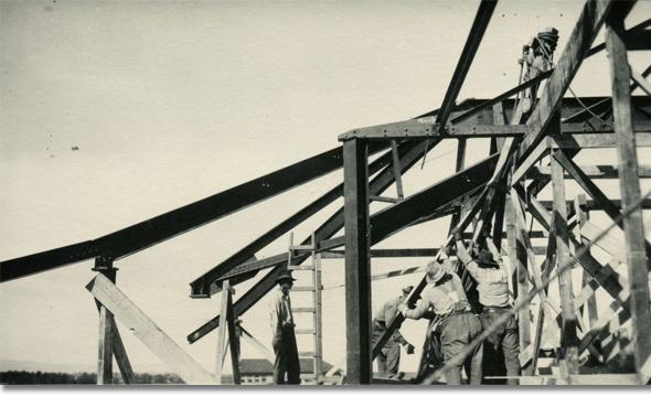 Framing for Roberts Hall