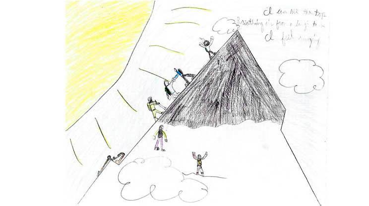 Everest Drawings Slideshow: Take a look at the wonderful drawings some of the students from participating classrooms sent to us!